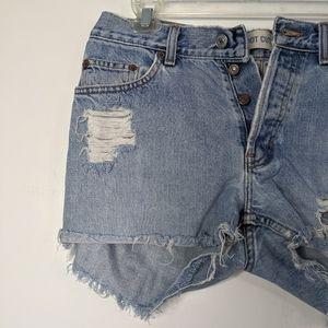 8 Gap Distressed Cut Off Shorts Denim High Waist V